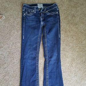 LA Idol Women's SZ 1 jeans flare let
